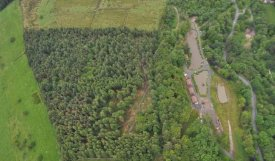aerial view showing Boothman Park set in the Forest of Bowland